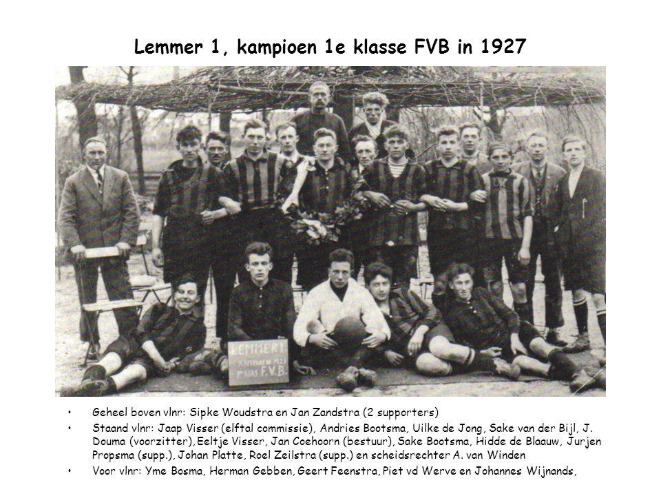 Lemmer 1, kampioen 1e klasse FVB in 1927