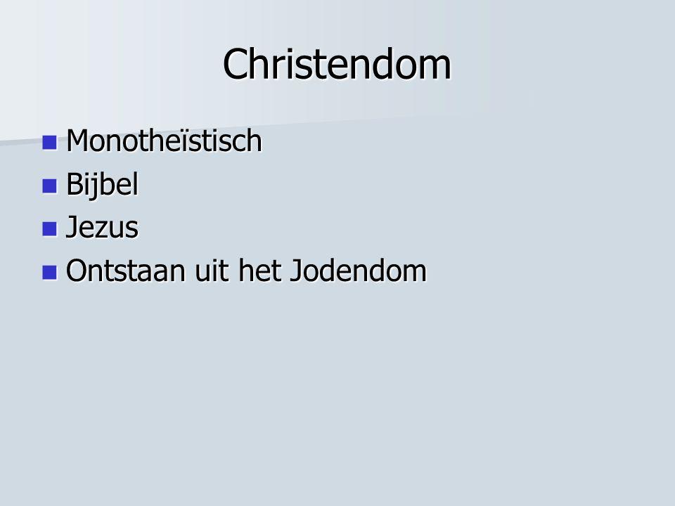 Christendom Monotheïstisch Bijbel Jezus Ontstaan uit het Jodendom