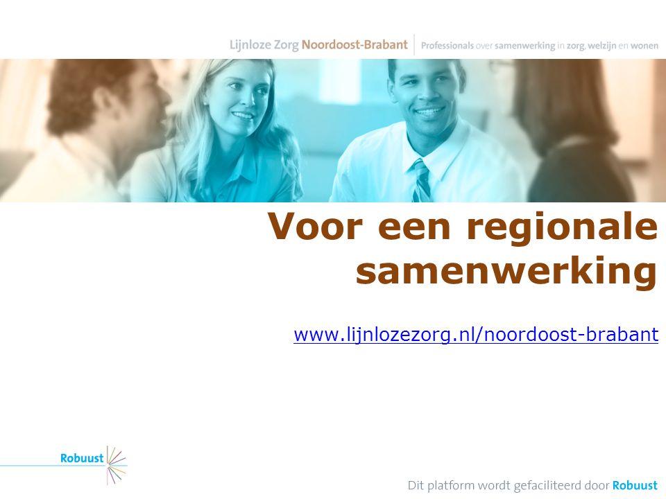 Voor een regionale samenwerking