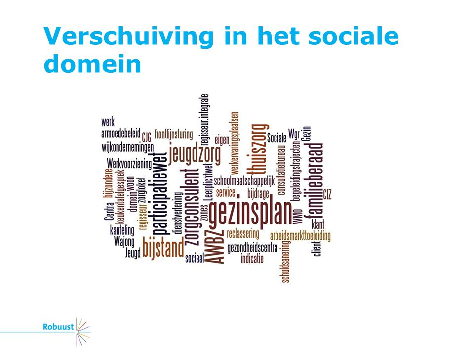 Verschuiving in het sociale domein