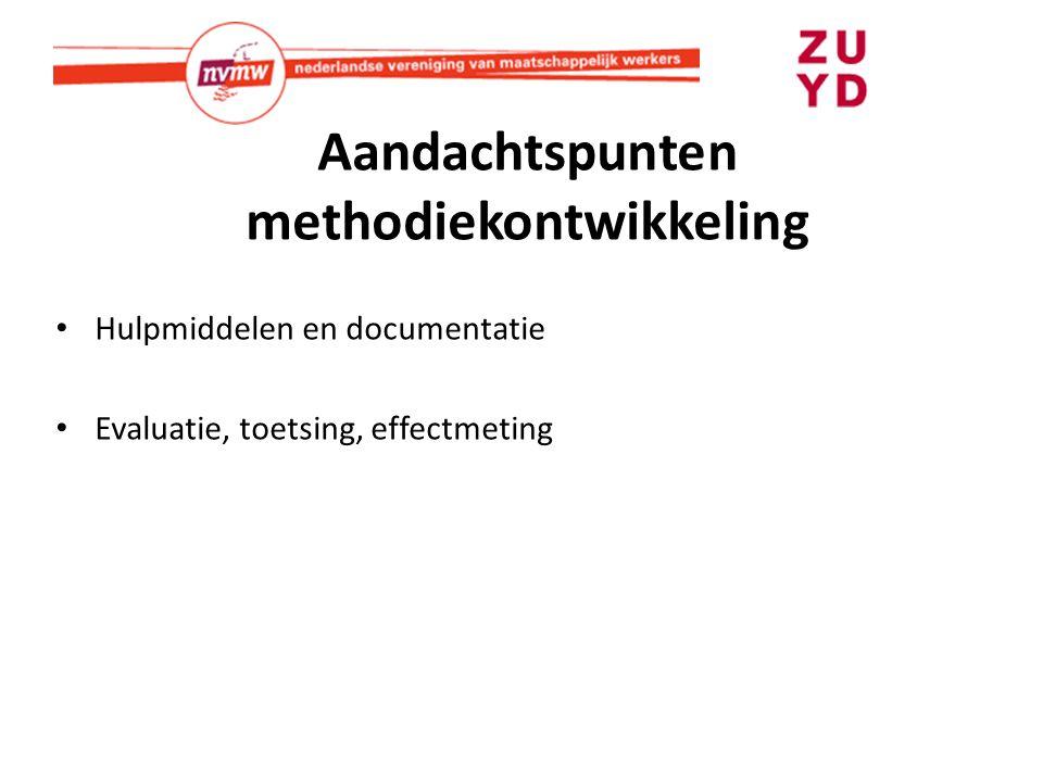 Aandachtspunten methodiekontwikkeling
