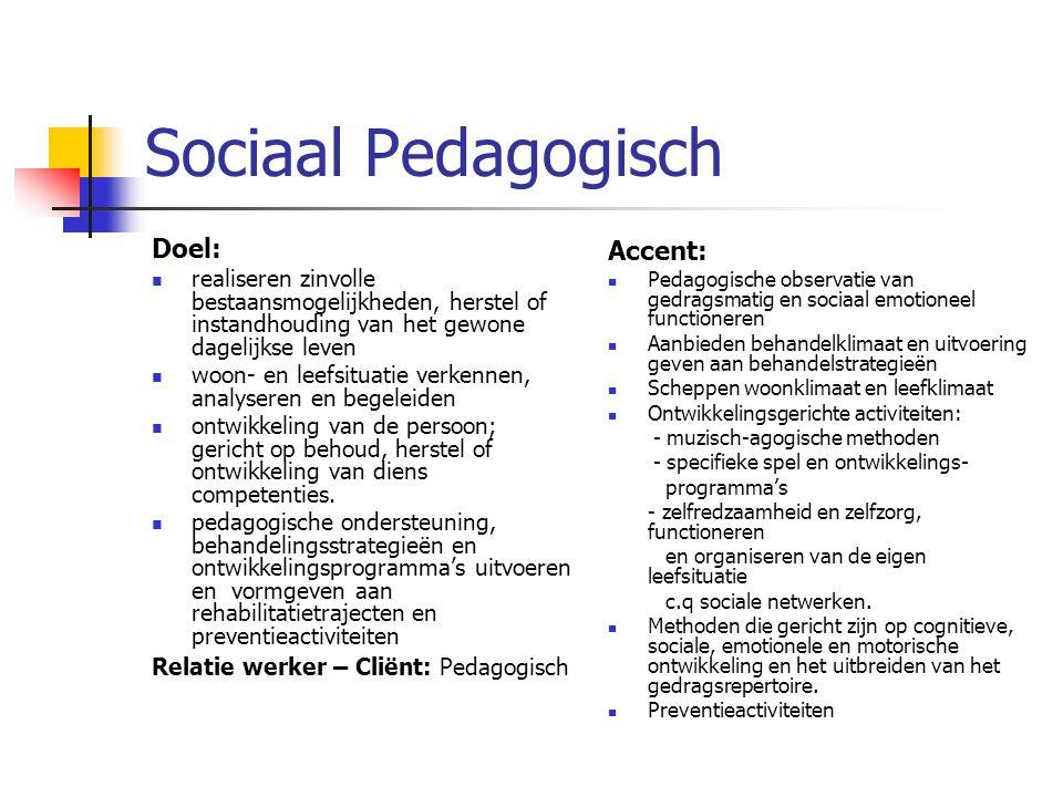 Sociaal Pedagogisch Doel: Accent: