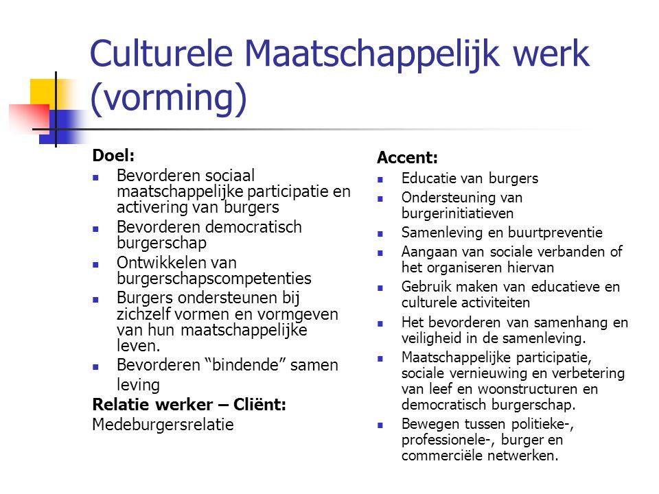 Culturele Maatschappelijk werk (vorming)