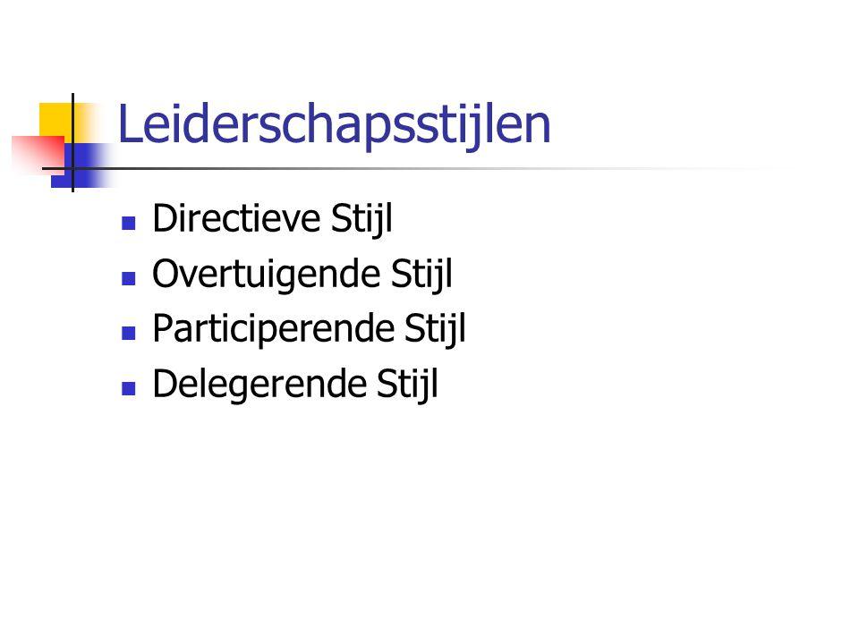 Leiderschapsstijlen Directieve Stijl Overtuigende Stijl