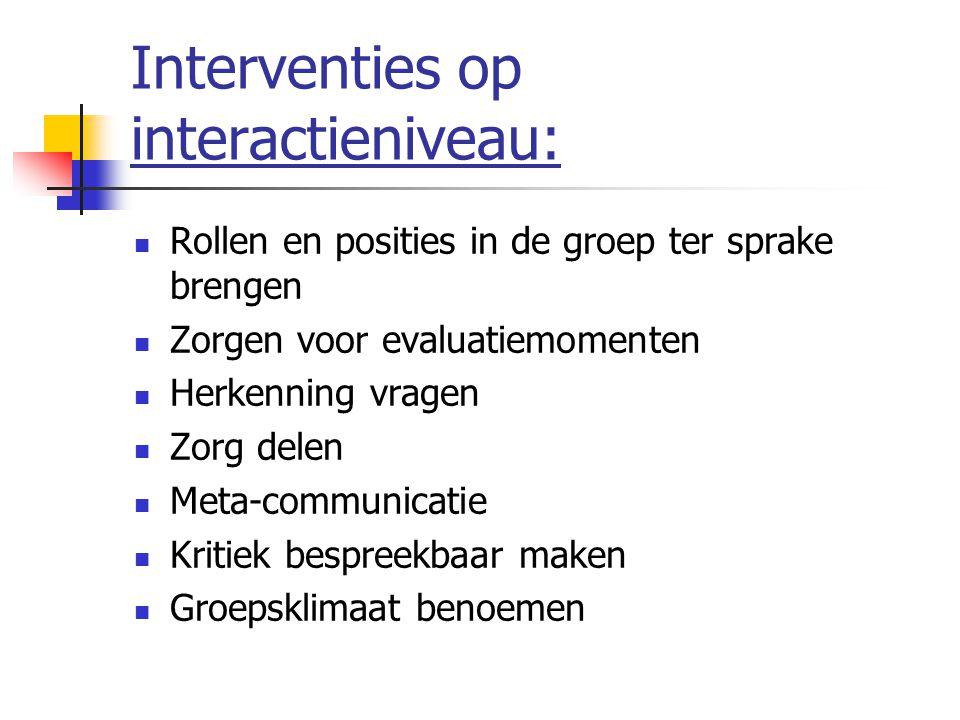 Interventies op interactieniveau: