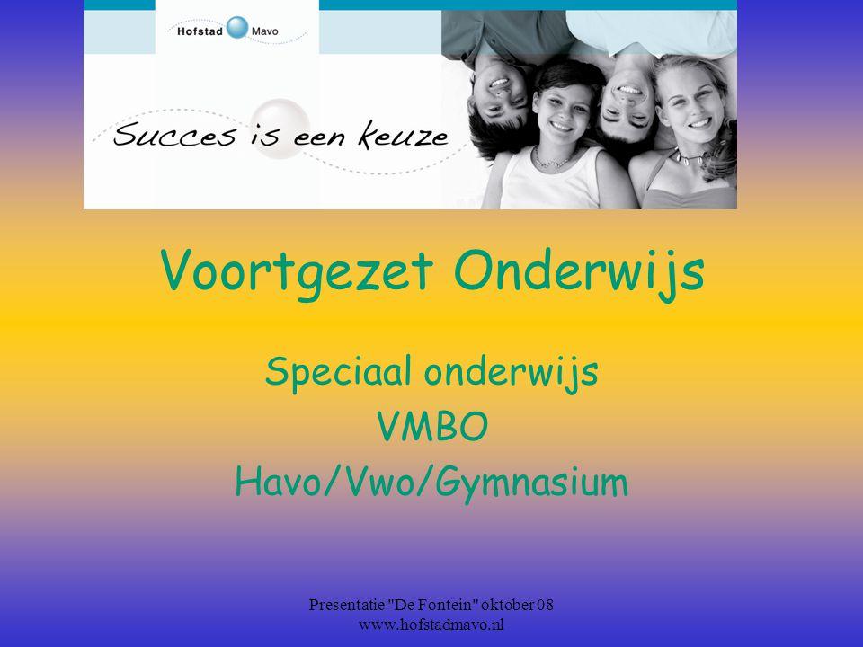 Speciaal onderwijs VMBO Havo/Vwo/Gymnasium
