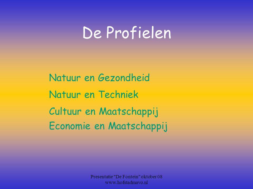 Presentatie De Fontein oktober 08 www.hofstadmavo.nl