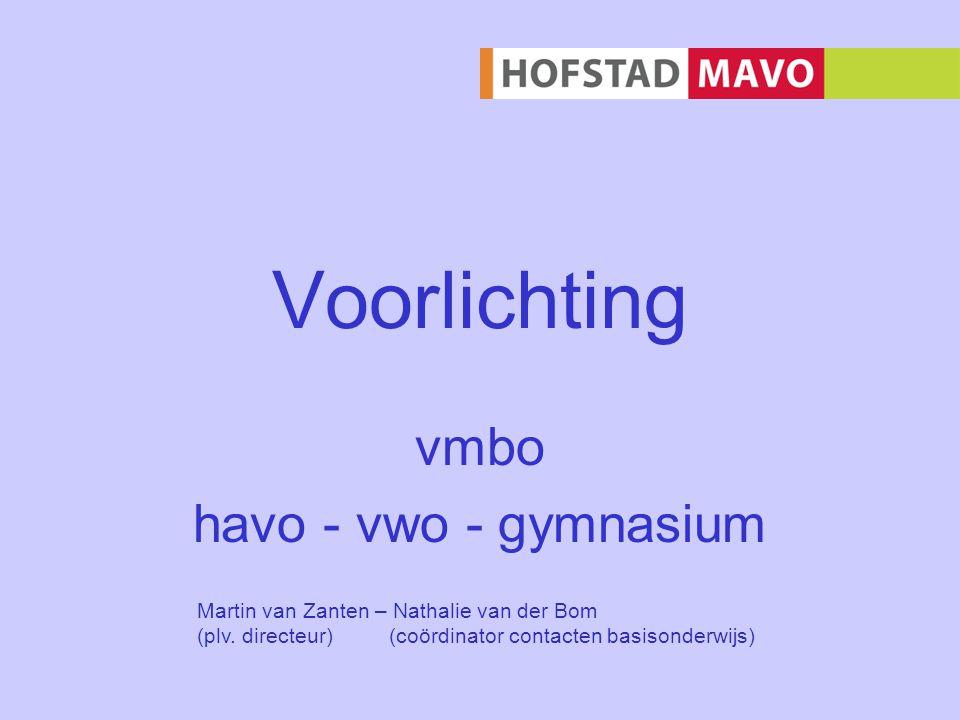 vmbo havo - vwo - gymnasium