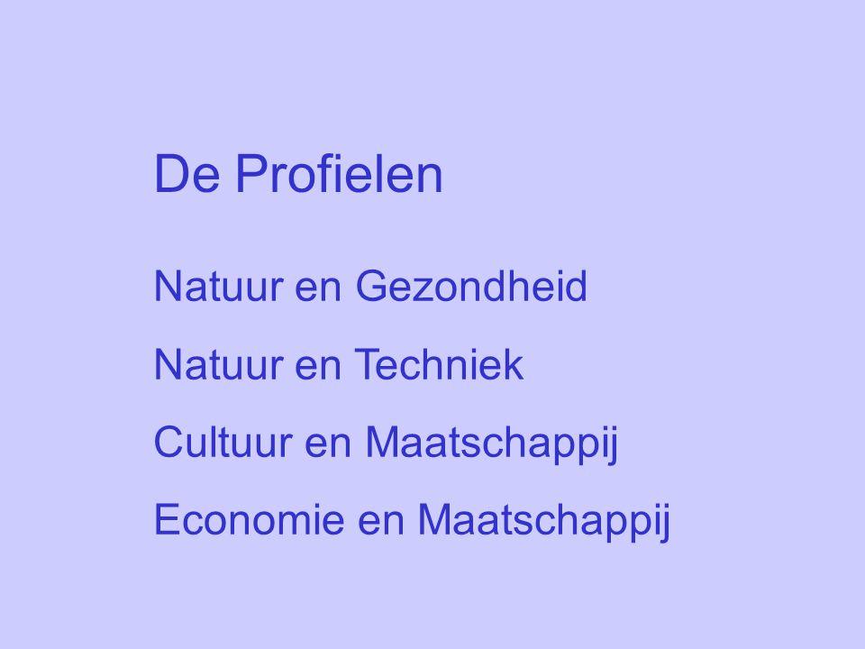 De Profielen Natuur en Gezondheid Natuur en Techniek