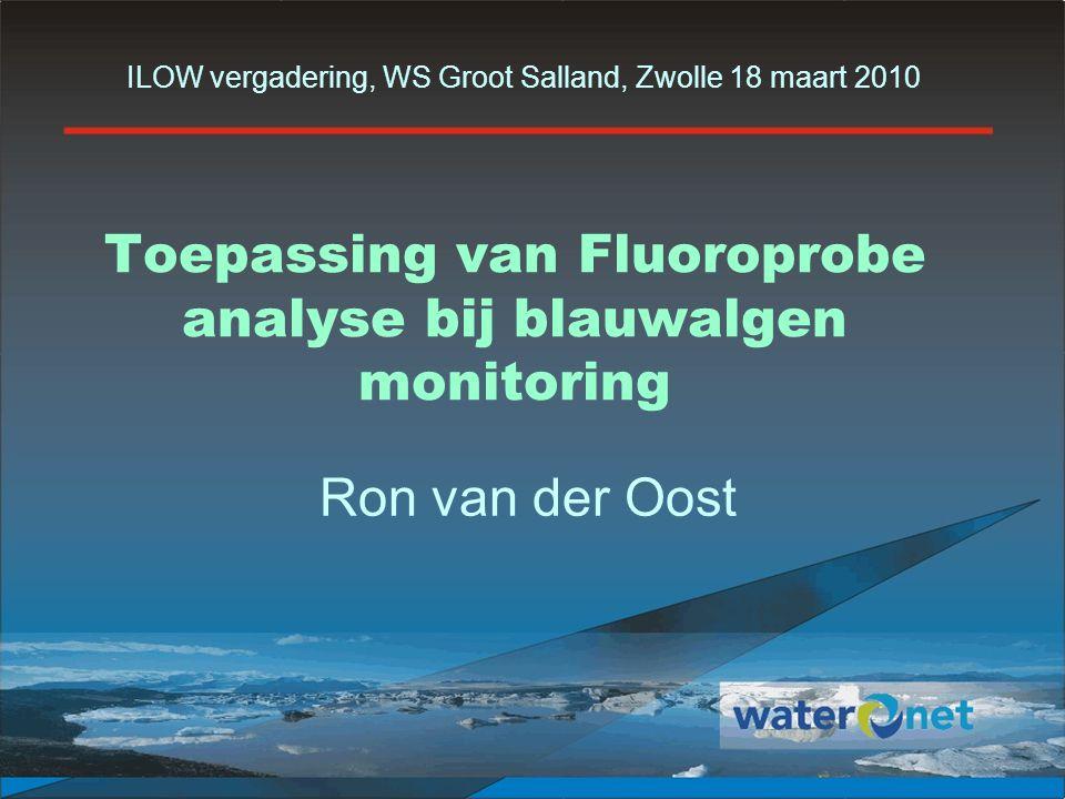 Toepassing van Fluoroprobe analyse bij blauwalgen monitoring