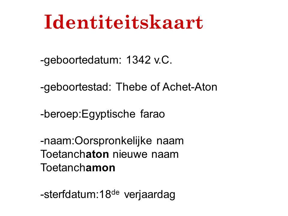 -geboortestad: Thebe of Achet-Aton -beroep:Egyptische farao