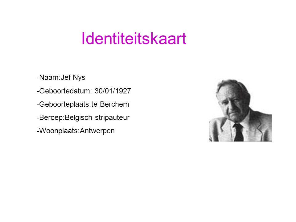 Identiteitskaart Naam:Jef Nys Geboortedatum: 30/01/1927