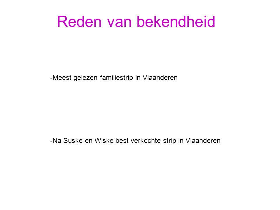 Reden van bekendheid -Meest gelezen familiestrip in Vlaanderen