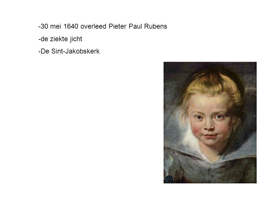 -30 mei 1640 overleed Pieter Paul Rubens