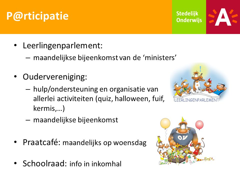 P@rticipatie Leerlingenparlement: Oudervereniging:
