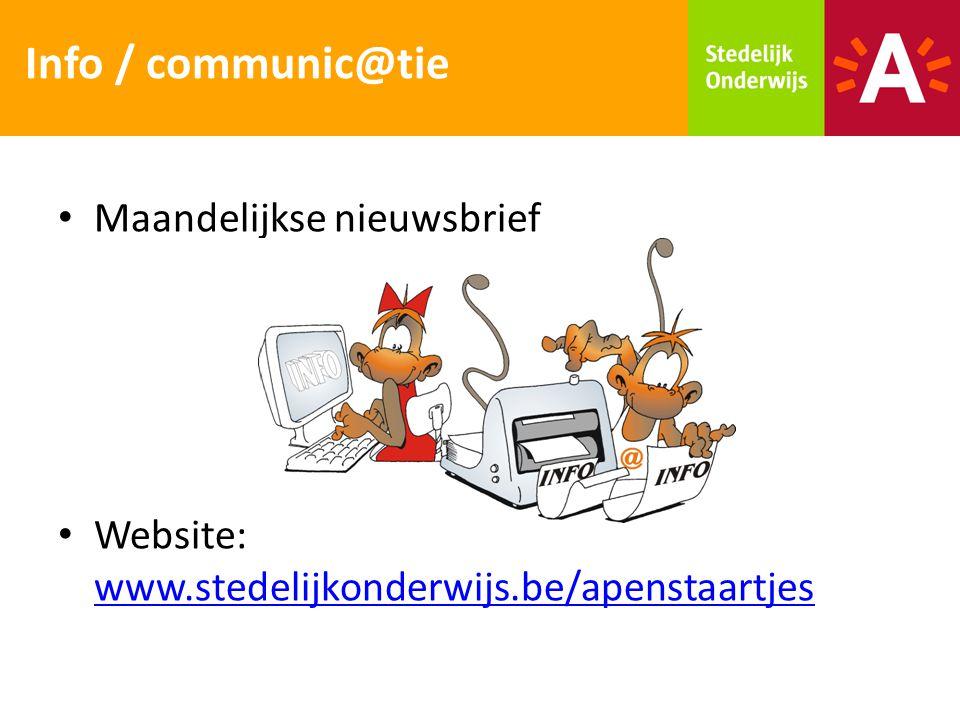 Info / communic@tie Maandelijkse nieuwsbrief
