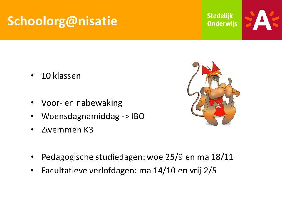 Schoolorg@nisatie 10 klassen Voor- en nabewaking