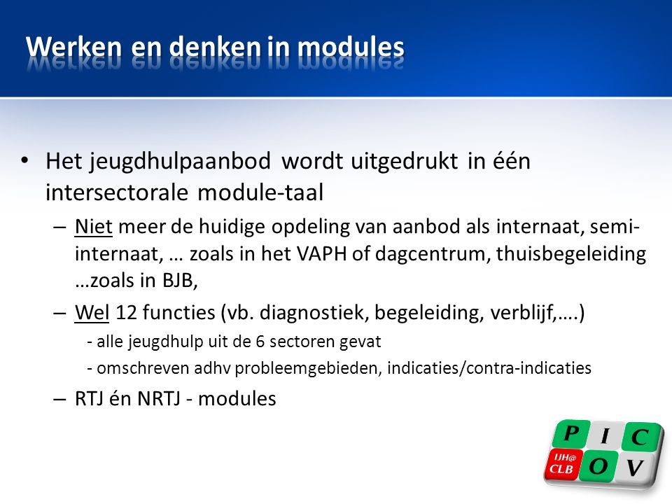 Werken en denken in modules