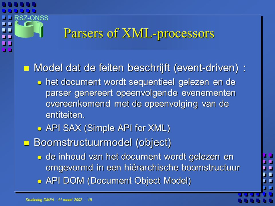 Parsers of XML-processors