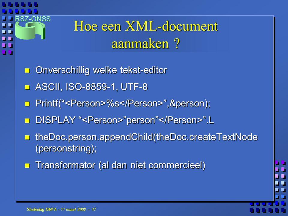 Hoe een XML-document aanmaken