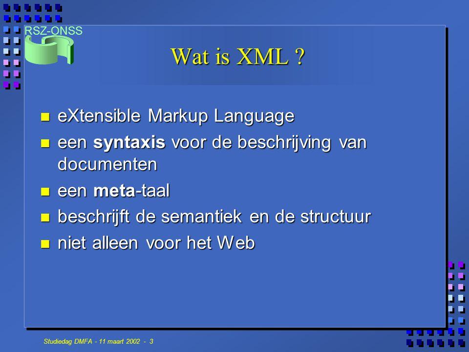 Wat is XML eXtensible Markup Language