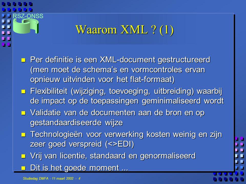 Waarom XML (1)