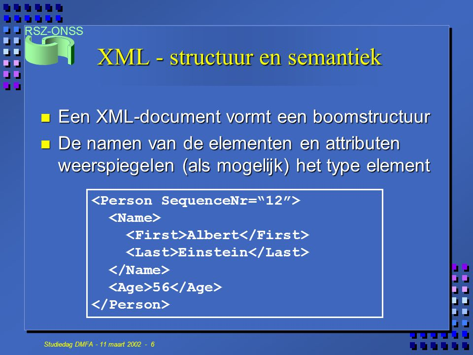 XML - structuur en semantiek
