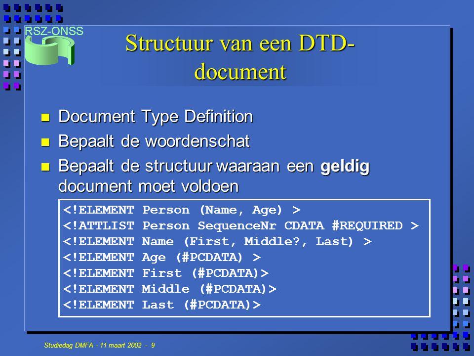 Structuur van een DTD-document