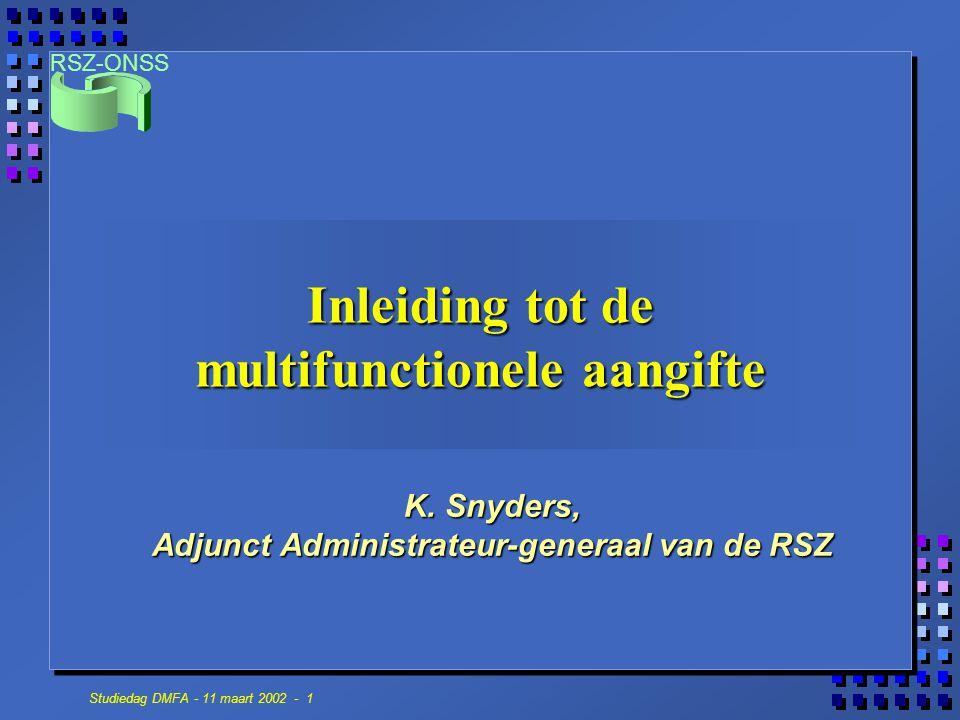 Inleiding tot de multifunctionele aangifte