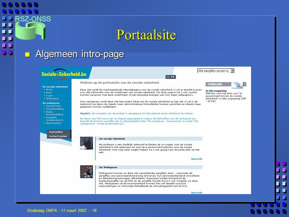 Portaalsite Algemeen intro-page