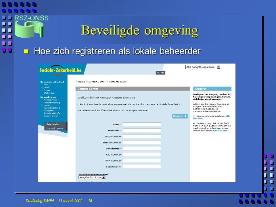 Beveiligde omgeving Hoe zich registreren als lokale beheerder