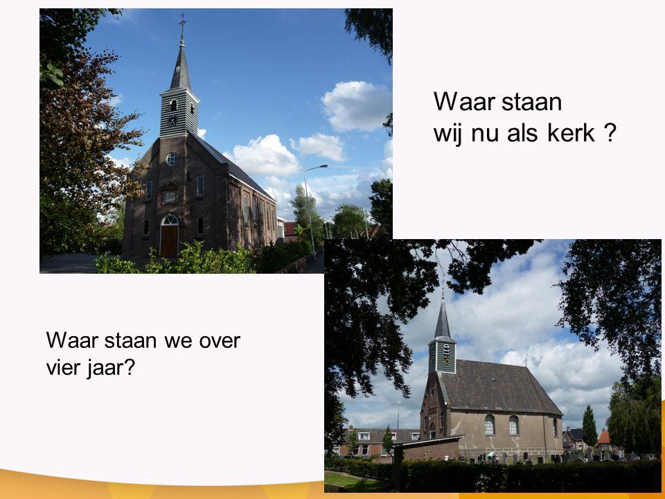 Waar staan wij nu als kerk Waar staan we over vier jaar