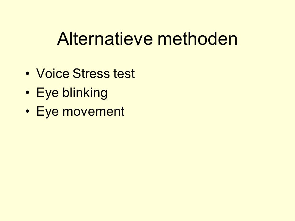 Alternatieve methoden