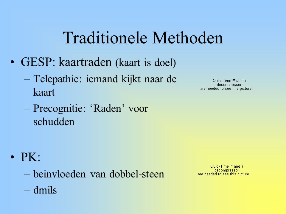 Traditionele Methoden