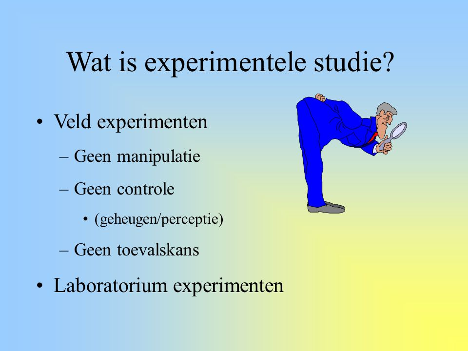 Wat is experimentele studie