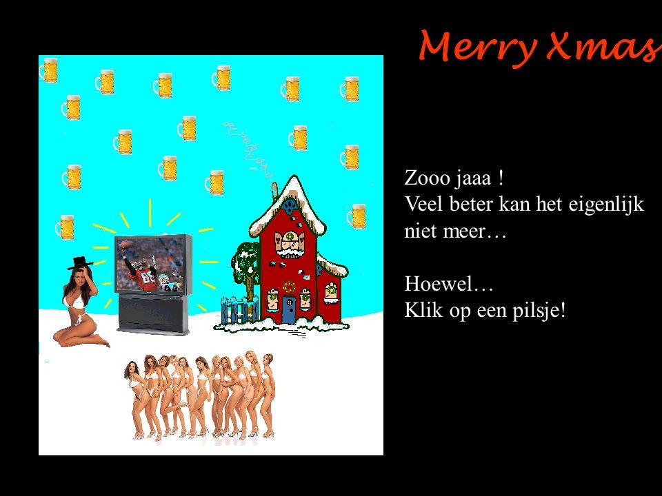 Merry Xmas Zooo jaaa ! Veel beter kan het eigenlijk niet meer… Hoewel…