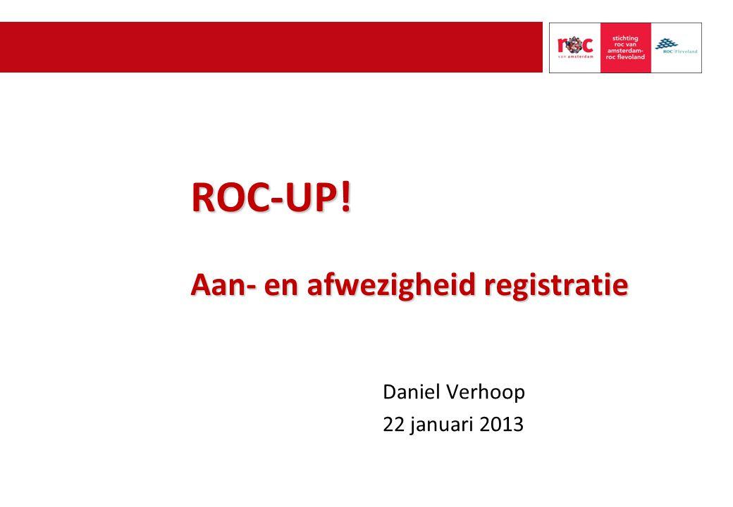 ROC-UP! Aan- en afwezigheid registratie