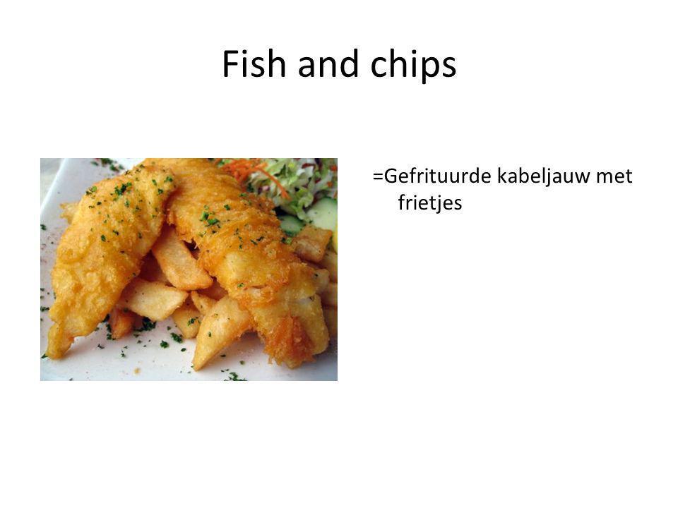 Fish and chips =Gefrituurde kabeljauw met frietjes
