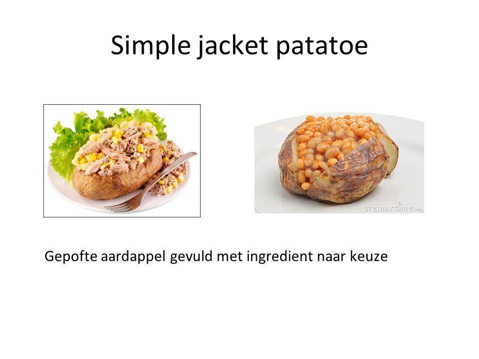Simple jacket patatoe Gepofte aardappel gevuld met ingredient naar keuze