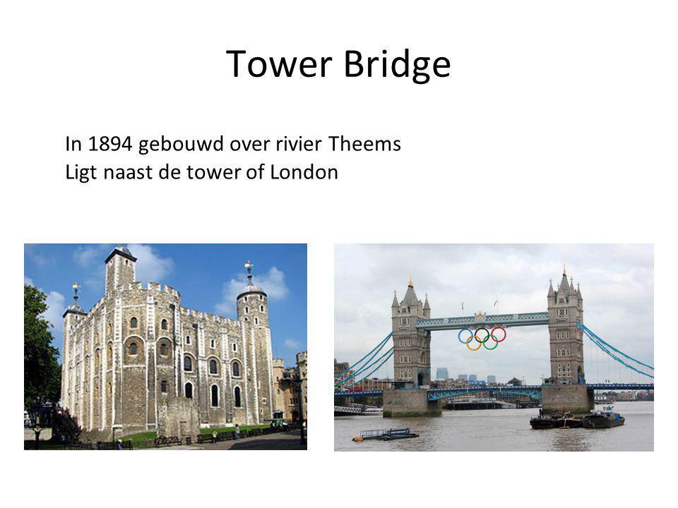 Tower Bridge In 1894 gebouwd over rivier Theems