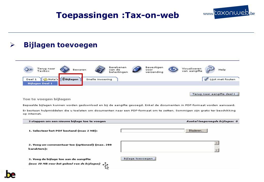 Toepassingen :Tax-on-web
