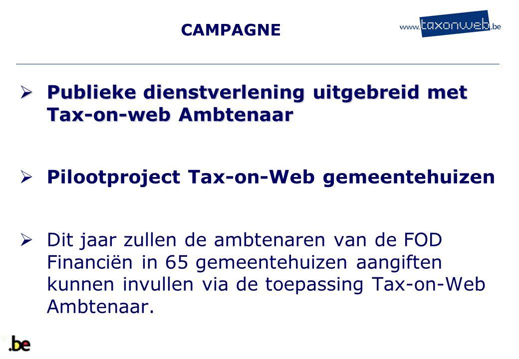 Publieke dienstverlening uitgebreid met Tax-on-web Ambtenaar