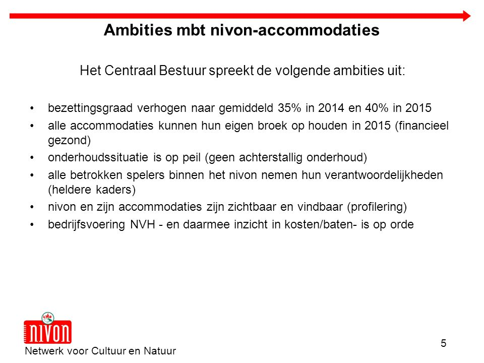 Ambities mbt nivon-accommodaties