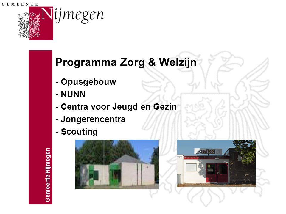 Programma Zorg & Welzijn