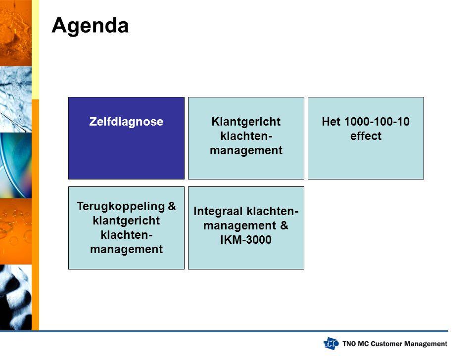 Agenda Zelfdiagnose Klantgericht klachten-management