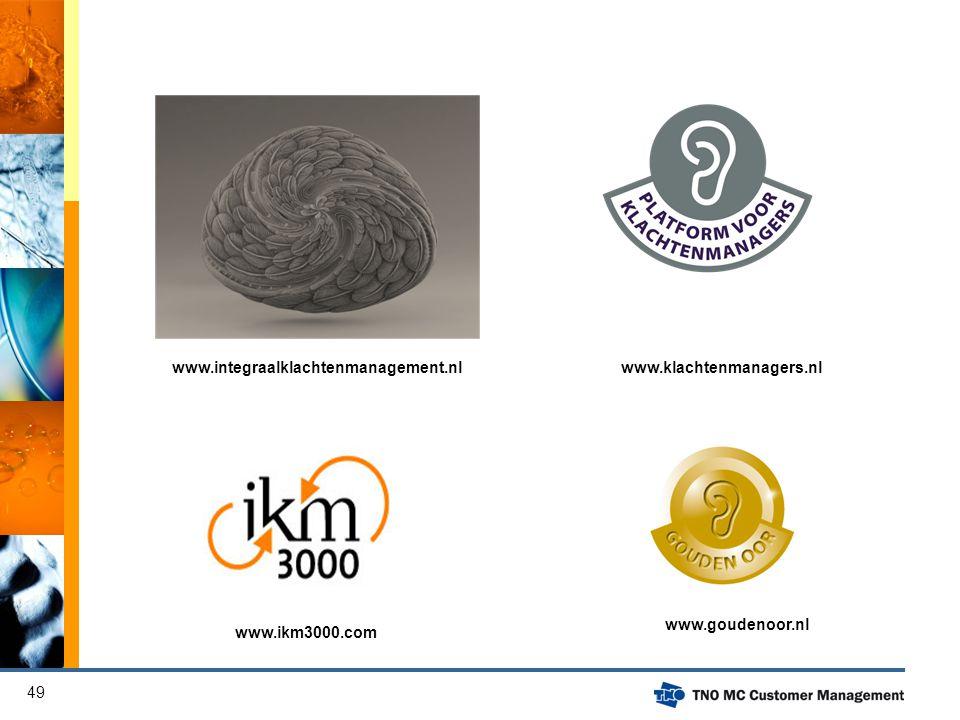 www.integraalklachtenmanagement.nl www.klachtenmanagers.nl www.goudenoor.nl www.ikm3000.com