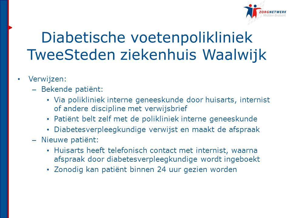 Diabetische voetenpolikliniek TweeSteden ziekenhuis Waalwijk