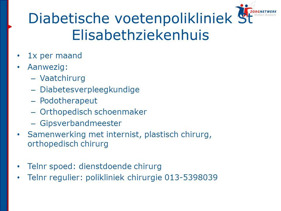 Diabetische voetenpolikliniek St Elisabethziekenhuis