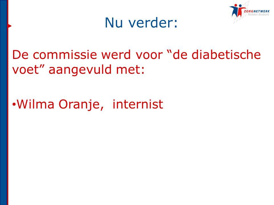 Nu verder: De commissie werd voor de diabetische voet aangevuld met: