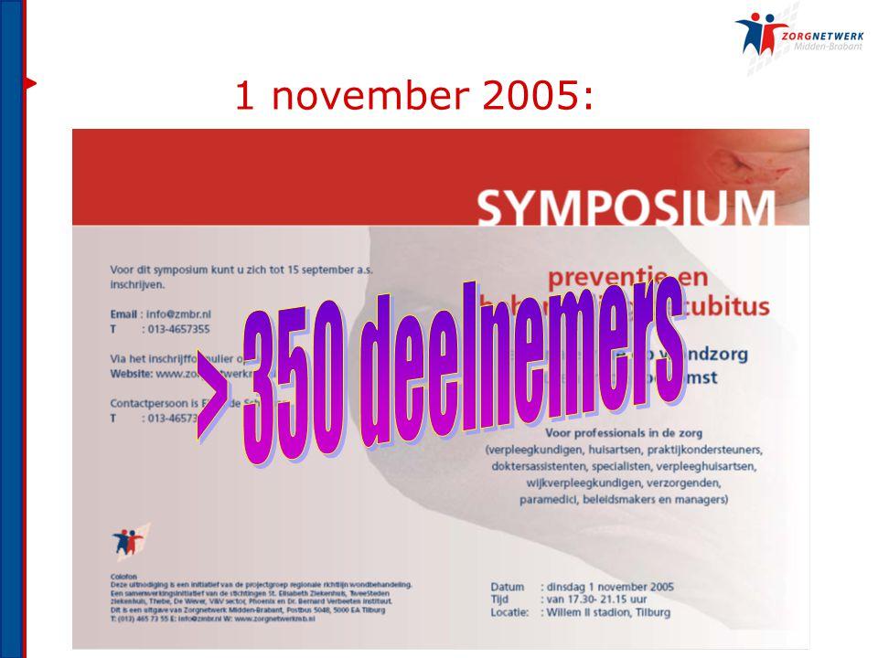 1 november 2005: > 350 deelnemers